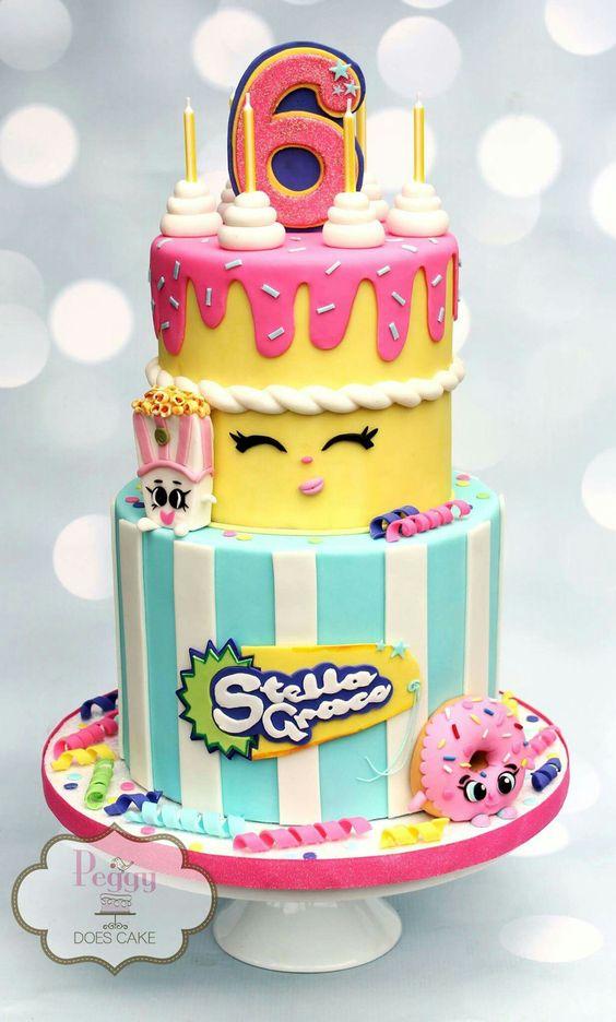 Shopkins cake: