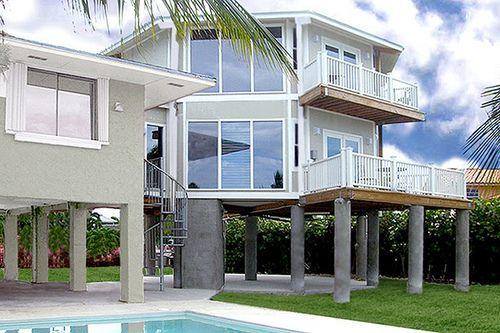 Florida Keys Two Story Stilt Home House On Stilts Stilt House Plans Beach House Plans