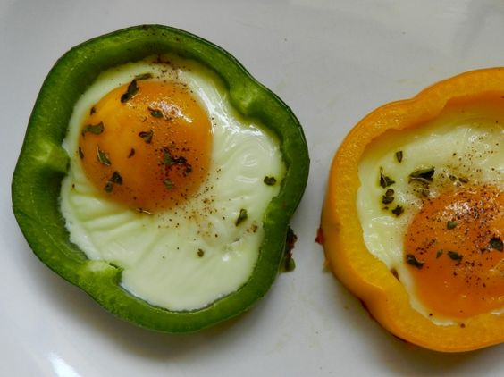 Bell Pepper Sunny-Side-Up Eggs   Rachel Schultz