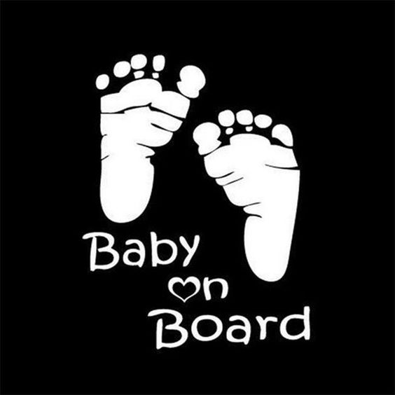Popular Baby On Board Sticker Vinyl Decal For Auto Car