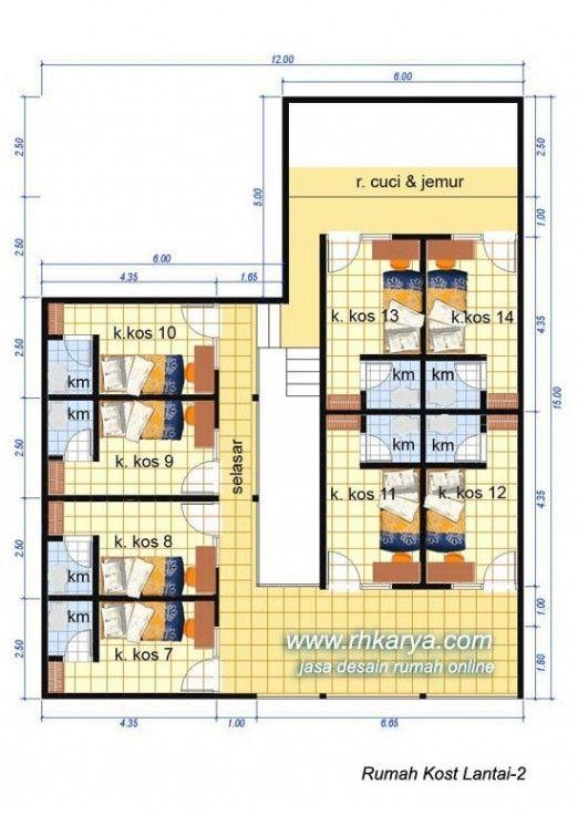 Desain Rumah Kost 2 Lantai Terbaru Cat Rumah Minimalis Desain Rumah Rumah Rumah Minimalis