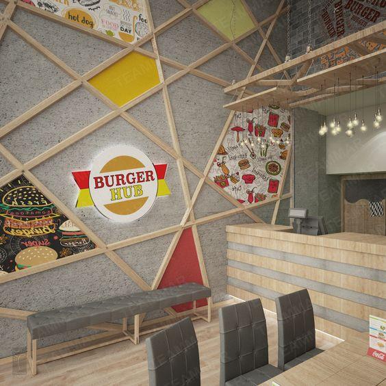 برجر هب تصميم تعمار للتصميم الداخلي Burger Hol