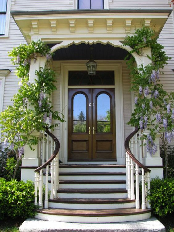 Front Door Designs for Your Amazing House: Beautiful Vine Classic Chandelier Good Door Steps Front Door Designs ~ dickoatts.com Doors Inspiration: