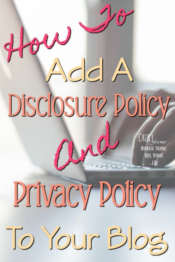 Blogging for beginners. Do you need a website privacy policy, or disclosure policy? Look no further for your privacy policy generator & instructions to create your disclosure policy!