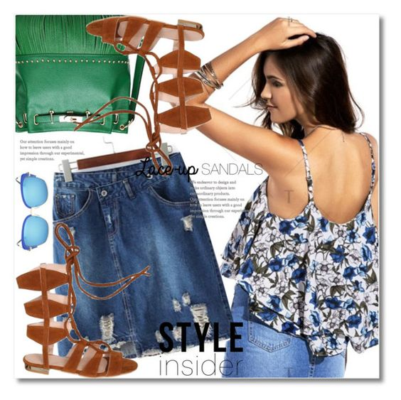 """""""Strapped In: Lace-Up Sandals"""" by svijetlana ❤ liked on Polyvore"""