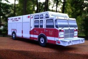 Paper Model, Fire Engine 2710