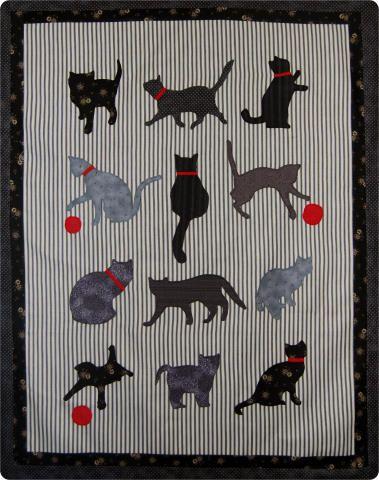 ESTOFAR CATS padrão | Pattern Quilt GRÁTIS