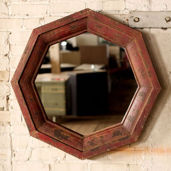 Distressed Mirror....awesome shape.