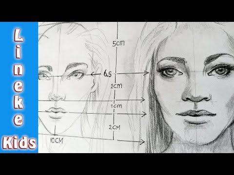 Verrassend Hoe teken je een REALISTISCH GEZICHT portret in stappen voor IA-83