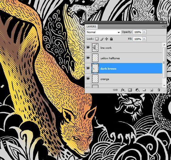 Profile for ndstillie - Step by step Photoshop coloring method using halftones.