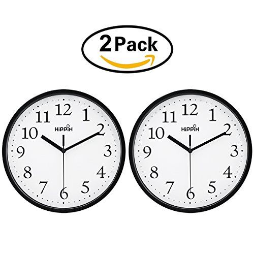 Hippih Black Wall Clock Silent Non Ticking Quality Quartz Https Www Amazon Com Dp B075qd95j8 Ref Cm Sw R Pi Black Wall Clock Wall Clock Silent Wall Clock