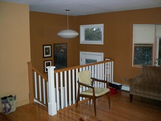 Raised ranch kitchen remodel ideas stairwell from the for Split living room dining room ideas