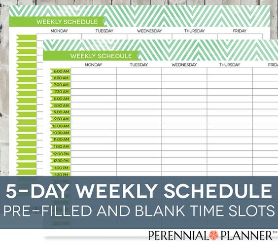 daily schedule printable  editable times  half