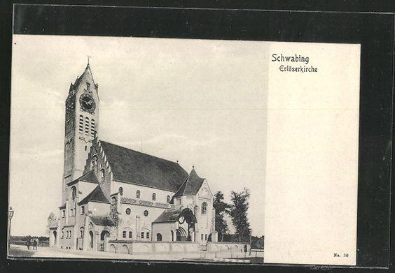 Awesome Schwabing Erl serkirche postcard ca Altes M nchen Schwabing Pinterest Schwabing M nchen und Alter