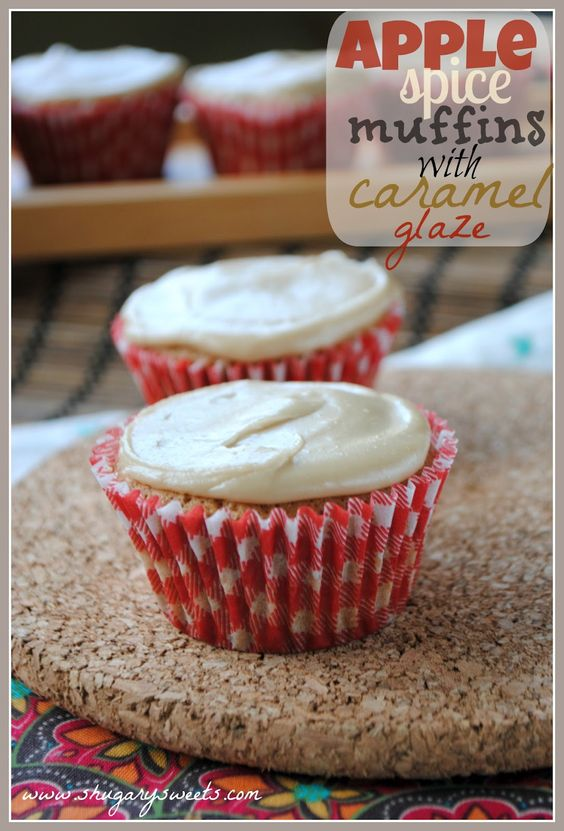Shugary Sweets: Apple Spice Muffins with Caramel Glaze