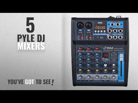 Pyle Professional Audio Mixer Sound Board Console Desk System Interface With 6 Channel Usb Bluetooth Digital Mp3 Comp Professional Audio Audio Mixer Audio