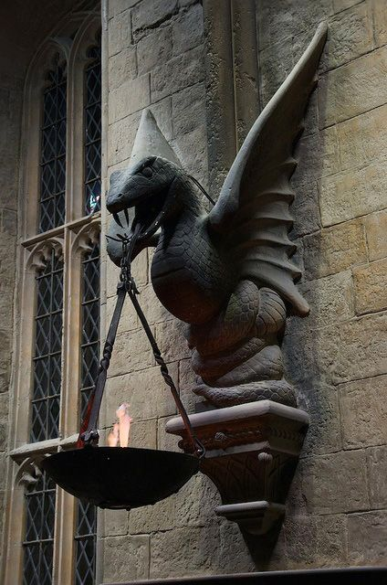Details, details...Gargoyle In The Great Hall, Hogwarts, photo by Gareth Morgan.