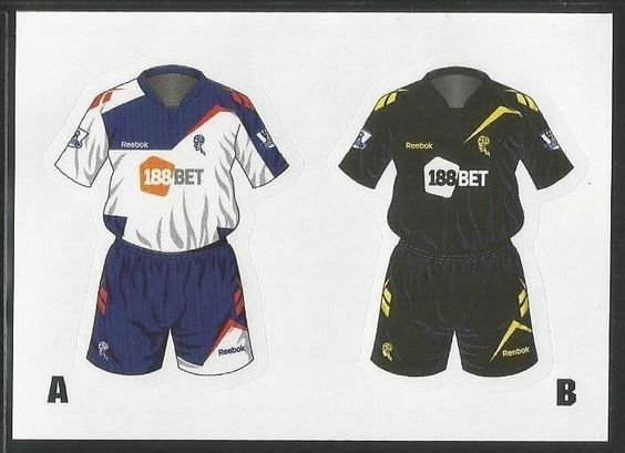 Bolton Wanderers home and away kits for 2011-12.