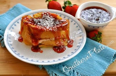 Overnight Stuffed French Toast from Southern Plate - Christy Jordan