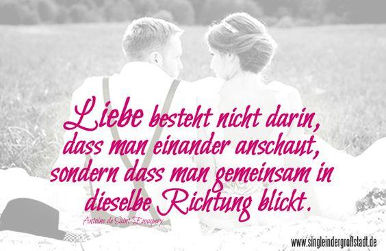 Spruch: #Liebe ist, gemeinsam in dieselbe Richtung zu blicken.