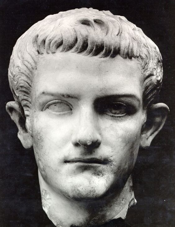 """Caligula (bce12 - ce 41), 3rd emperor of Rome after Tiberius Claudius Nero. Suffered a """"brain sickness"""" in ce 37 and was assassinated in ce 41 by his own Praetorian Prefect guards"""