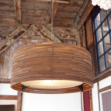 Design Lighting, Graypants Cardboard Drum Scraplight, for a Generous Amount of Both up and down-lighting, residential and commercial spaces, Graypants UK.