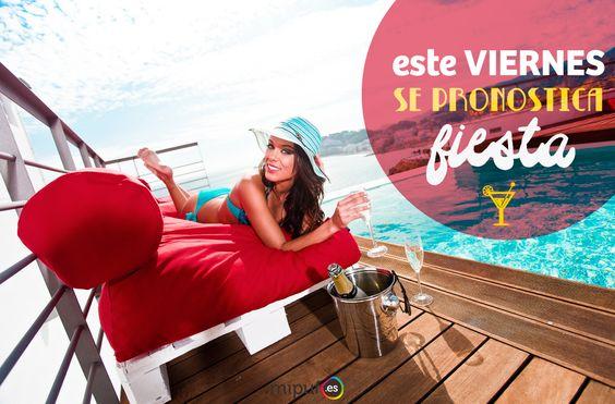 Viernes en Mipuf!   http://www.mipuf.es/palets-pufs-p-396.html  #Party #Quote #Palets #Puff #Pufs #Friday #Fiesta #Party #Eco #Deco #Poufs #Bepufmyfriend #Decoración #Viernes
