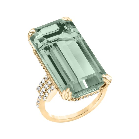 "Ivanka Trump ""Empire"" Prasiolite & Diamond Ring:"