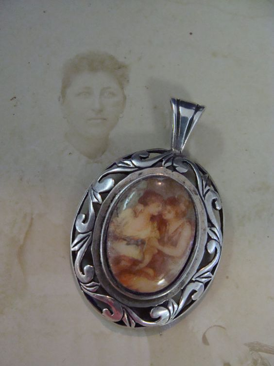 Lovely Sterling Silver Pendant w/ 2 Ladies by TreasureTradersOfTN