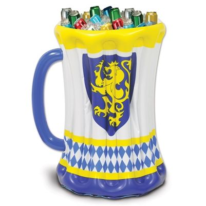This Inflatable Beer Stein Cooler is perfect for Oktoberfest, sport theme parties, or mid-evil theme parties.