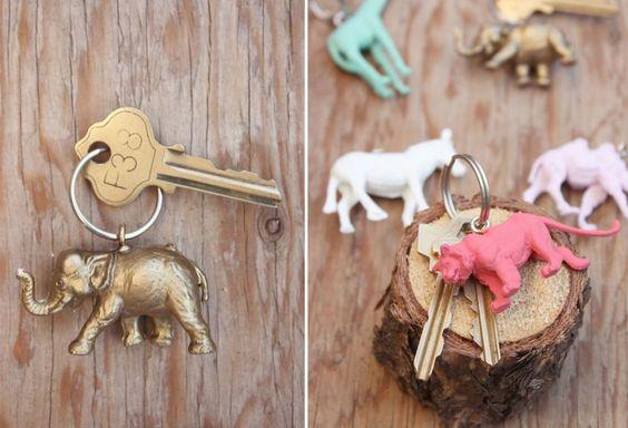 DIY : porte-clé animaux couleur