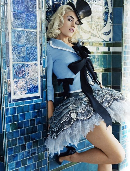 I think that this costume would be perfect for alice. It also matches the personality of Anna Faris. this outfit has the whole Alice in Wonderland theme, with the hat, and the blue dress. This outfit is very stylish for this century's fashion.
