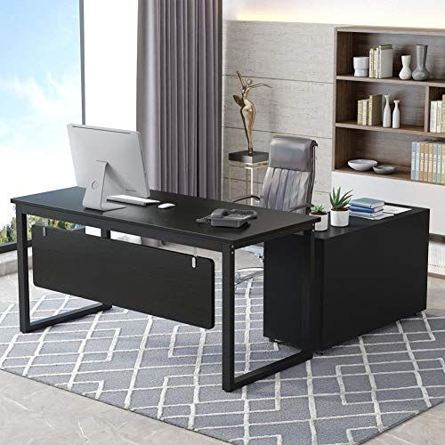 Tribesigns L Shaped Desk 55 Inch Modern Computer Desk With File