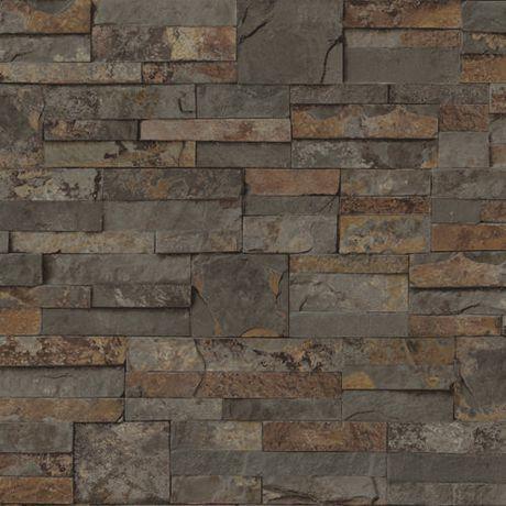Mini Ledgestone Rustic Sidewall Wallpaper For Sale At