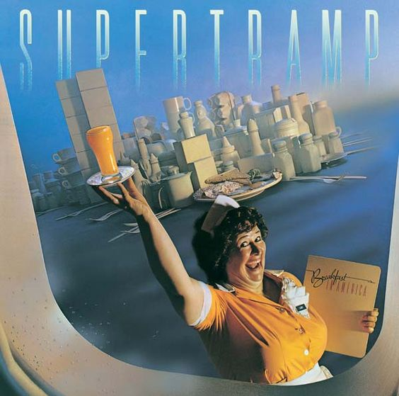 Supertramp - Breakfast in America (A&M, 1979). Photo by Mark Hanauer. Fun fact, the lady in the picture appears in Total Recall (original Arnie version). Pay attention at the airport...