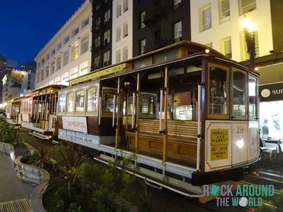 Cable Car an der Powell Street in San Francisco