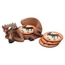 Resting Moose Coaster Set (5 pcs)