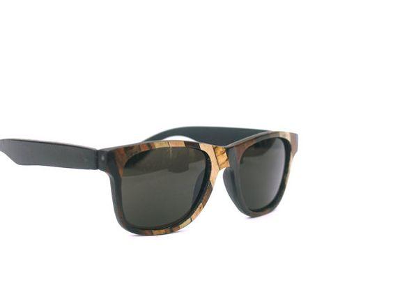 Patchfork Wood Veneered Sunglasses