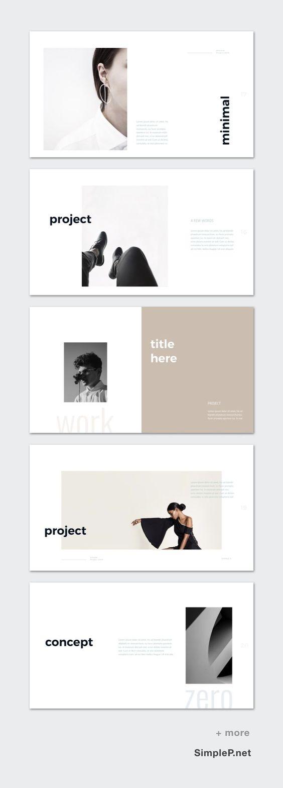 Zero Presentation PowerPoint Template #ppt #work #project #concept #exhibit #display #portfolio #simplep #simple #minimal #lookbook #fashion #black #white #template #line #design #photobook #photography
