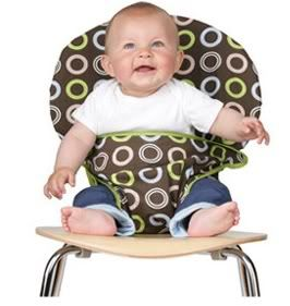 Tot seat portable high chair - genius travel solution for new parents. It folds up!