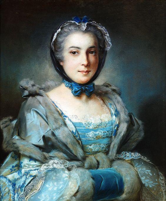 Pierre Bernard (1704-1777): Portrait of a lady. 1745.