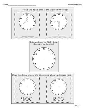 Common Core Math Assessments for First Grade- Measurement image 3