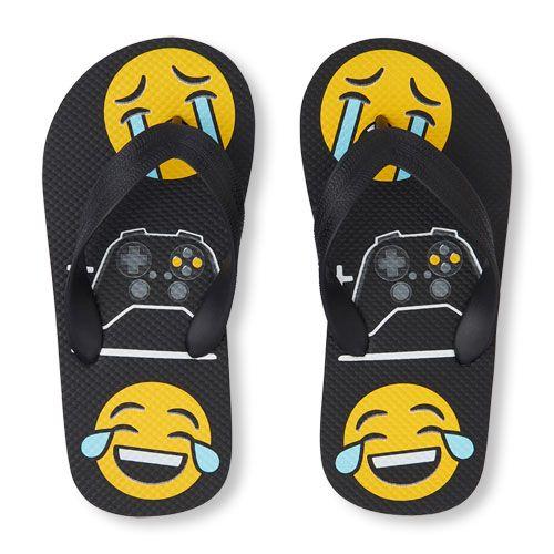 Boys Crying Emoji Video Game Emoji Laughing Crying Emoji Flip Flop Boys Shoes Crying Emoji Flip Flops