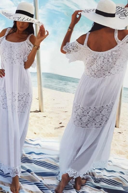 Unencrypted Connection In 2020 Lace Beach Wear Summer Dresses For Women Long Beach Dress