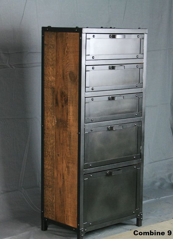 Vintage Industrial Lingerie Chest Custom Rustic Reclaimed
