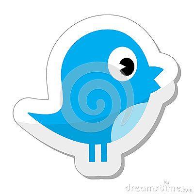 Twitter bird icon Editorial Photography