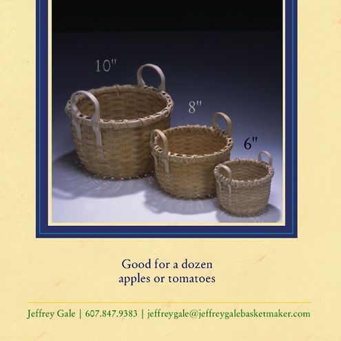 Jeffrey Gale Basketmaker - 10 inch Bushel Basket