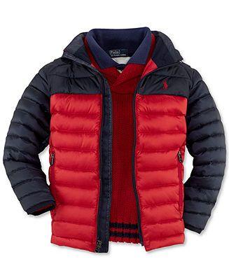 Ralph Lauren Kids Jacket, Little Boys Mock Neck Lightweight Down ...