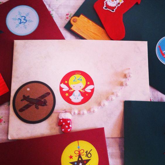Selbstgemachter Adventskalender, jedem Tag eine kleine Freude!  eleonore-creative.de