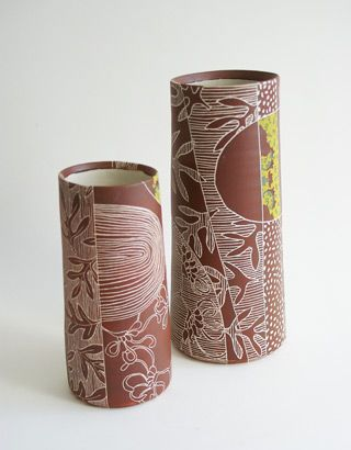 Sgraffito technique by JANET DEBOOS